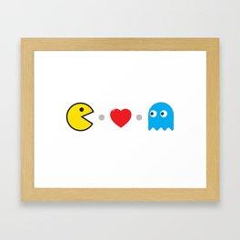 PAC-MAN HEART Framed Art Print
