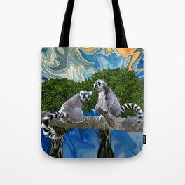 Playful Lemur-ick  Tote Bag