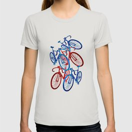 Red and Blue Bicycles/Americana T-shirt