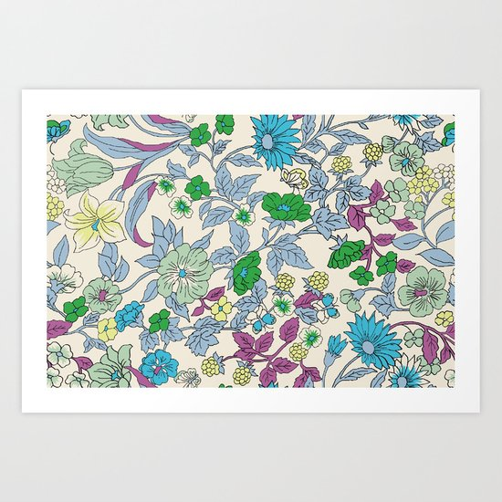 floral garden - spring Art Print