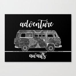adventure awaits world map design 5 Canvas Print