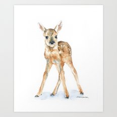 Deer Fawn Art Print