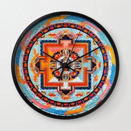 Hindu Buddhist Mandala 18 Wall Clock