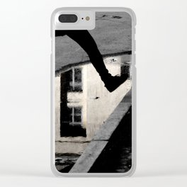 Across the puddle Clear iPhone Case
