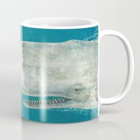 dick Mugs featuring The Whale - colour option by Terry Fan
