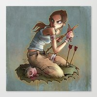 megan lara Canvas Prints featuring Lara by poopbird