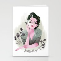 bonjour Stationery Cards featuring Bonjour by LisaArtWork