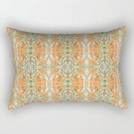 Humming Bird Orange Rectangular Pillow