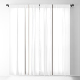 Brown Lines Blackout Curtain