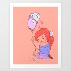 balloon love Art Print