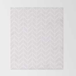 Winter 2018 Color: Pink Cream in Chevron Throw Blanket