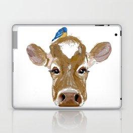 Bluebird Cow Laptop & iPad Skin