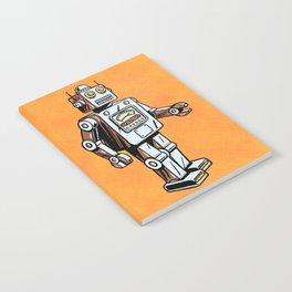 Retro Robot Toy Notebook