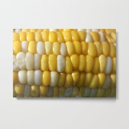 Close up of Delicious Corn on the Cob Metal Print