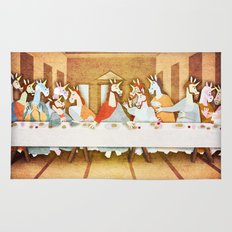 Last Supper Unicorn Rug