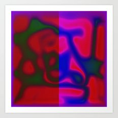Red Color Leak Art Print