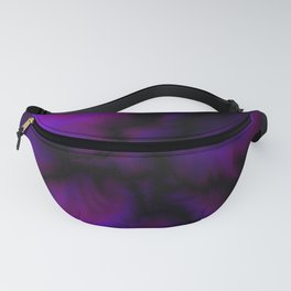 Crossing sapphire lightning bolts of light from flowing galaxies to parallel ones with dark glitteri Fanny Pack