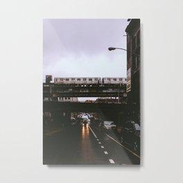 The JMZ Train in Brooklyn Metal Print