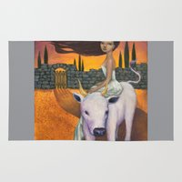 taurus Area & Throw Rugs featuring Taurus by Artist Andrea