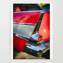 Chevy Bel Air Tail Fin Poster