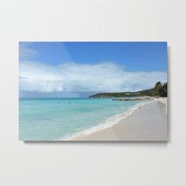 Antigua Beach Metal Print