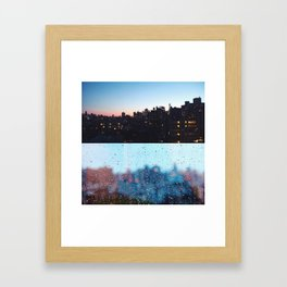 New York Droplets  Framed Art Print