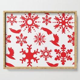 Snowbird Pattern Serving Tray