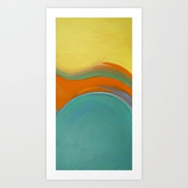 Whale Tail Tale Two Art Print