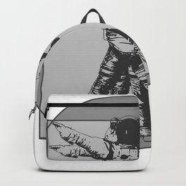Vitruvian with spacer flair on Grey Backpack