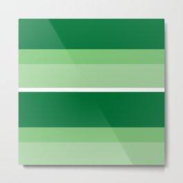 Strips - green. Metal Print