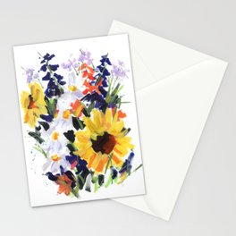 Sunflower Bouquet Stationery Cards