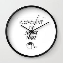 Punny Crafts Wall Clock