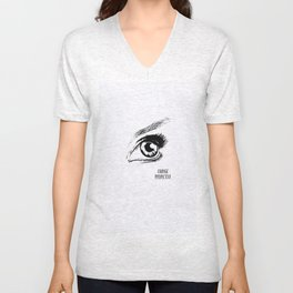 Eye Drawing Unisex V-Neck