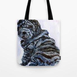 Black Shar Pei Love Tote Bag