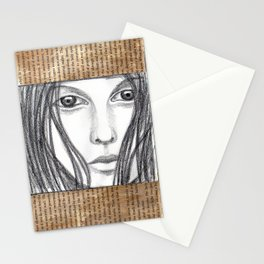 Reading a book Stationery Cards