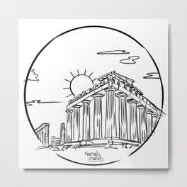 Parthenon, Greece Metal Print