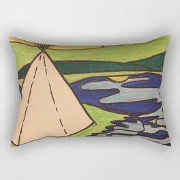 Teepee native sun Rectangular Pillow
