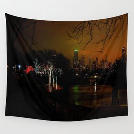 Christmas Lights, City Lights (Chicago Architecture Collection) Wall Tapestry
