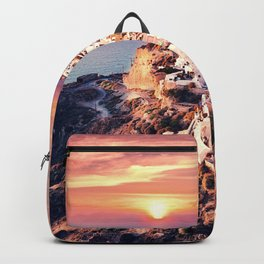 Santorini Sunset View Backpack