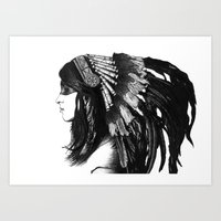 indian Art Prints featuring Indian by Peter Fulop