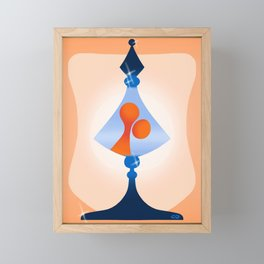 lava lamp Framed Mini Art Print
