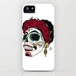 Frida khalo skull iPhone Case