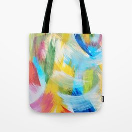 Feathery Swirl Tote Bag