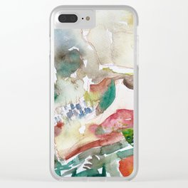 SKULL AND MUSHROOMS Clear iPhone Case