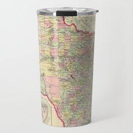 Vintage Map of Texas (1856) Travel Mug