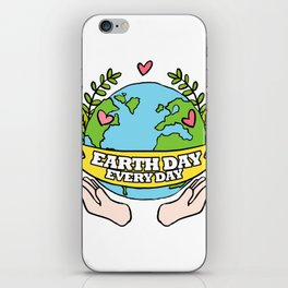 Earth Day Every Day Save The Planet iPhone Skin