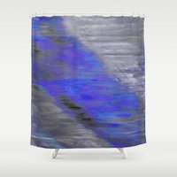 large Shower Curtains featuring large by Fun Artist