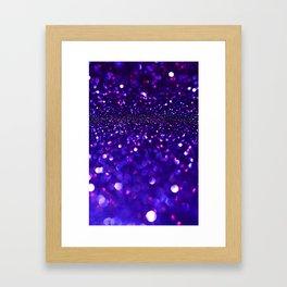 blue glitter Framed Art Print