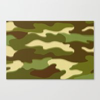 camo Canvas Prints featuring CAMO by Bruce Stanfield