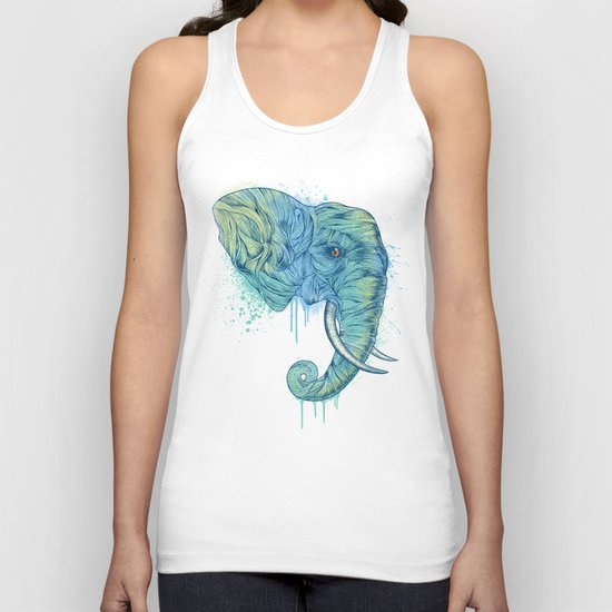 Elephant Portrait Unisex Tank Top